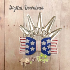 3D USA Bow Machine Embroidery Design Digital Download MGEDesigns