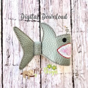 3D Shark Half Bow Machine Embroidery Design Digital Download MGEDesigns