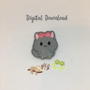 Lady Chinchilla Feltie Machine Embroidery Design Digital Download MGEDesigns