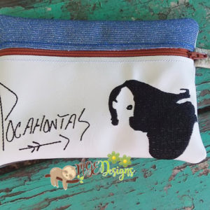 ITH Pocahontas Signature Bag Machine Embroidery Design Digital Download MGEDesigns