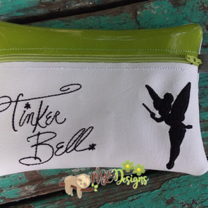 ITH Tinkerbell Signature Bag Machine Embroidery Design Digital Download MGEDesigns
