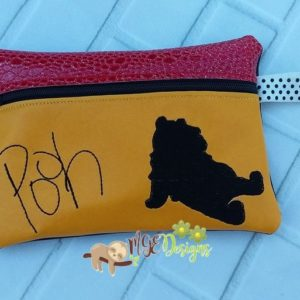 ITH Pooh Signature Bag Machine Embroidery Design Digital Download MGEDesigns
