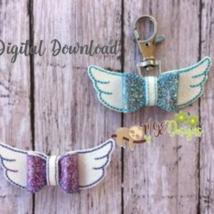 3D Mini Angel Wing Bow Machine Embroidery Design Digital Download MGEDesigns