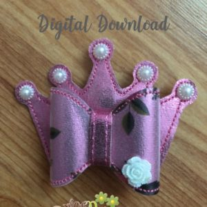 3D Crown Bow Machine Embroidery Design Digital Download MGEDesigns