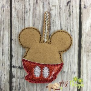 Candy Apple Mickey Feltie Machine Embroidery Design MGEDesigns