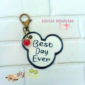 Best Day Ever Hang Tag Machine Embroidery Design Digital Download MGEDesigns