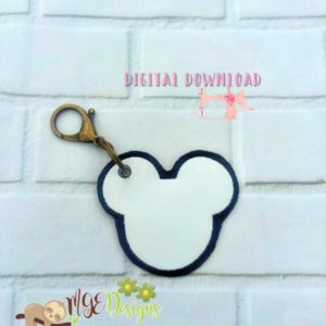 Mr Mouse Blank Hang Tag Machine Embroidery Design Digital Download MGEDesigns