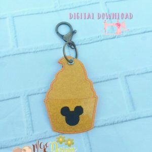 Mouse Ice Cream Hang Tag Machine Embroidery Design Digital Download MGEDesigns