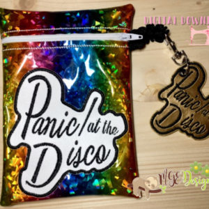 ITH Panic Bag With Key Fob Machine Embroidery Design Digital Download MGEDesigns