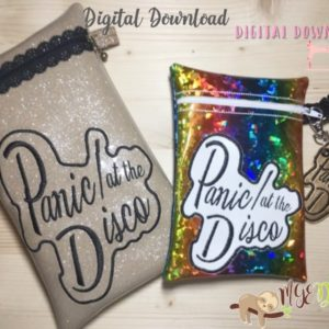 ITH Panic Disco Bag with Key Fob Machine Embroidery Design Digital Download MGEDesigns