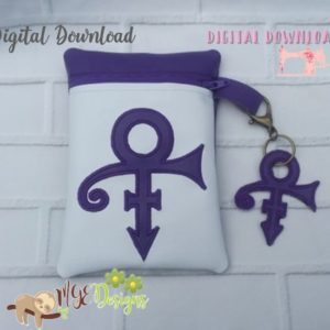 ITH Purple Prince Symbol with Key Ring Machine Embroidery Design Digital Download MGEDesigns