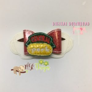 3D Coffee Cups Bow Machine Embroidery Design Digital Download MGEDesigns