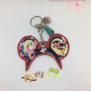 Mouse Headband Applique Confetti Key Fob Machine Embroidery Design Digital Download MGEDesigns