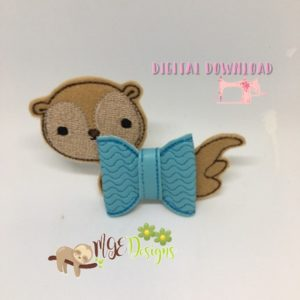 3D Otter Bow Machine Embroidery Design Digital Download MGEDesigns