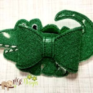 3D Alligator Bow Machine Embroidery Design Digital Download MGEDesigns