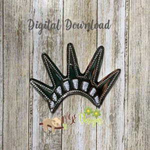 Oversized Liberty Crown Feltie Machine Embroidery Design Digital Download MGEDesigns