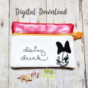 ITH Daisy Signature Bag Machine Embroidery Design Digital Download MGEDesigns