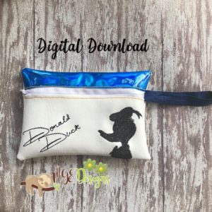 ITH Donald Signature Bag Machine Embroidery Design Digital Download MGEDesigns