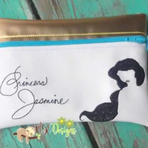 ITH Jasmine Signature Bag Machine Embroidery Design Digital Download MGEDesigns