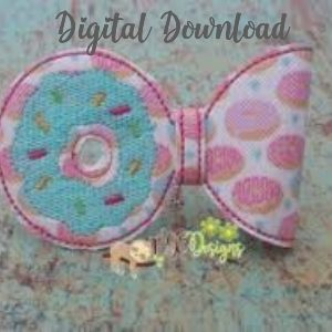 3D Donut Half Bow Machine Embroidery Design Digital Download MGEDesigns
