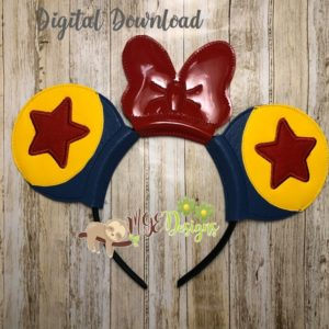 Toy Balls Mouse Ear Headband Machine Embroidery Design Digital Download MGEDesigns