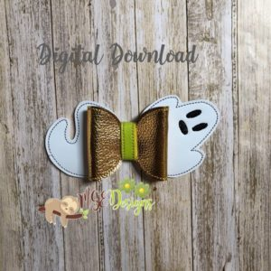 3D Flying Ghost Bow Machine Embroidery Design Digital Download MGEDesigns