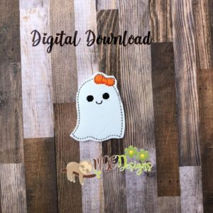 Ghost Girl Feltie Machine Embroidery Design Digital Download MGEDesigns