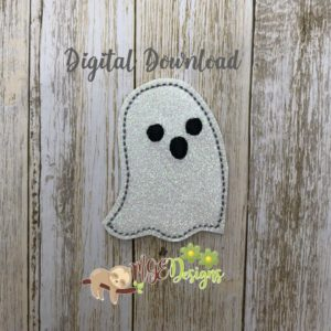 Ghost Feltie Machine Embroidery Design Digital Download MGEDesigns