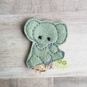 Baby Elephant Feltie Machine Embroidery Design Digital Download MGEDesigns