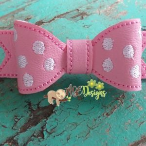 3D Minnie Dots Bow Machine Embroidery Design Digital Download MGEDesigns