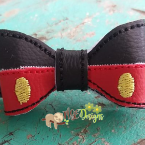 3D Mouse Pants Bow Machine Embroidery Design Digital Download MGEDesigns