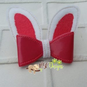 3D Bunny Ears Bow Machine Embroidery Design Digital Download MGEDesigns