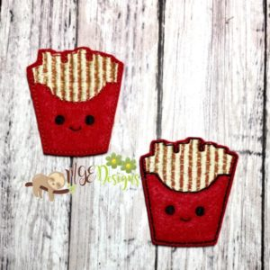 French Fries Feltie Machine Embroidery Design Digital Download MGEDesigns