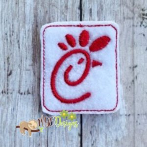 Chick Fil Feltie Machine Embroidery Design Digital Download MGEDesigns