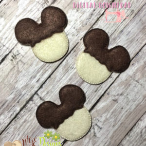 Mouse Chocolate Covered Rice Crisp Feltie Machine Embroidery Design Digital Download MGEDesigns
