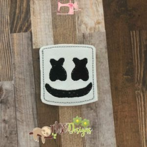 Marshmallow Face Feltie Machine Embroidery Design Digital Download MGEDesigns