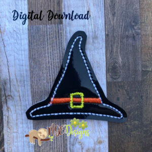 Witch Hat Feltie Machine Embroidery Design Digital Download MGEDesigns