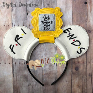 Friends Mouse Ear Headband Machine Embroidery Design Digital Download MGEDesigns