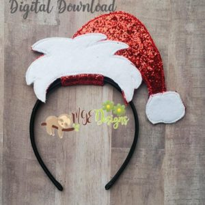 Santa Hat Headband Slider Machine Embroidery Design Digital Download MGEDesigns