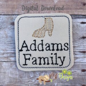 Creepy Family Feltie Machine Embroidery Design Digital Download by MGEDesigns