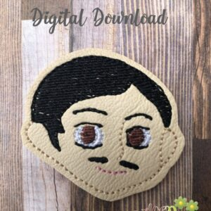 Addams Dad Feltie Machine Embroidery Design Digital Download by MGEDesigns