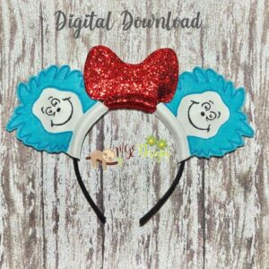 Dr Things Mouse Ear Headband Machine Embroidery Design Digital Download by MGEDesigns