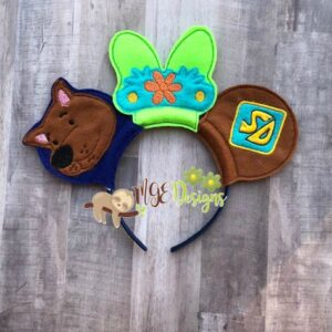 Mystery Crew Mouse Ear Headband Machine Embroidery Design Digital Download by MGEDesigns