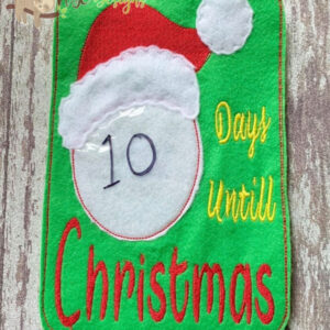 Days Until Christmas Count Down Board Machine Embroidery Design Digital Download by MGEDesigns