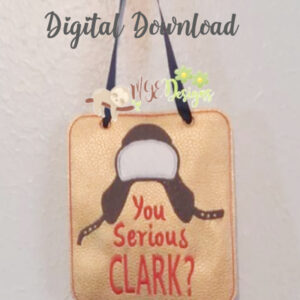 Are You Serious Clark Board Machine Embroidery Design Digital Download by MGEDesigns