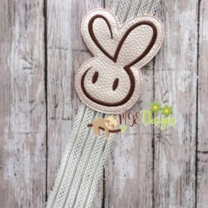 Fancy Bunny Headband Planner Band Machine Embroidery Design Digital Download by MGEDesigns