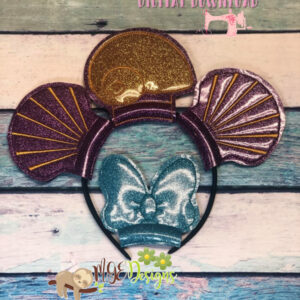 Shells Mouse Ear Headband Machine Embroidery Design Digital Download by MGEDesigns