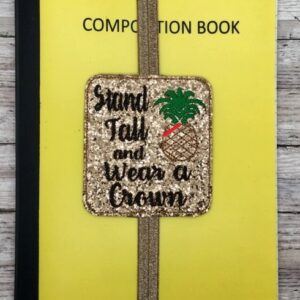 Stand Tall Pineapple Planner Band Machine Embroidery Design Digital Download by MGEDesigns