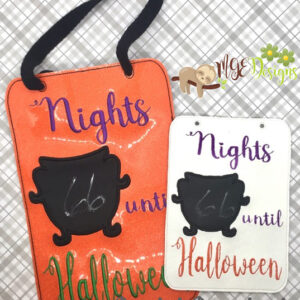 Nights Until Halloween Board Machine Embroidery Design Digital Download by MGEDesigns