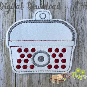 Bullseye Shopping Basket Ornament Machine Embroidery Design Digital Download by MGEDesigns